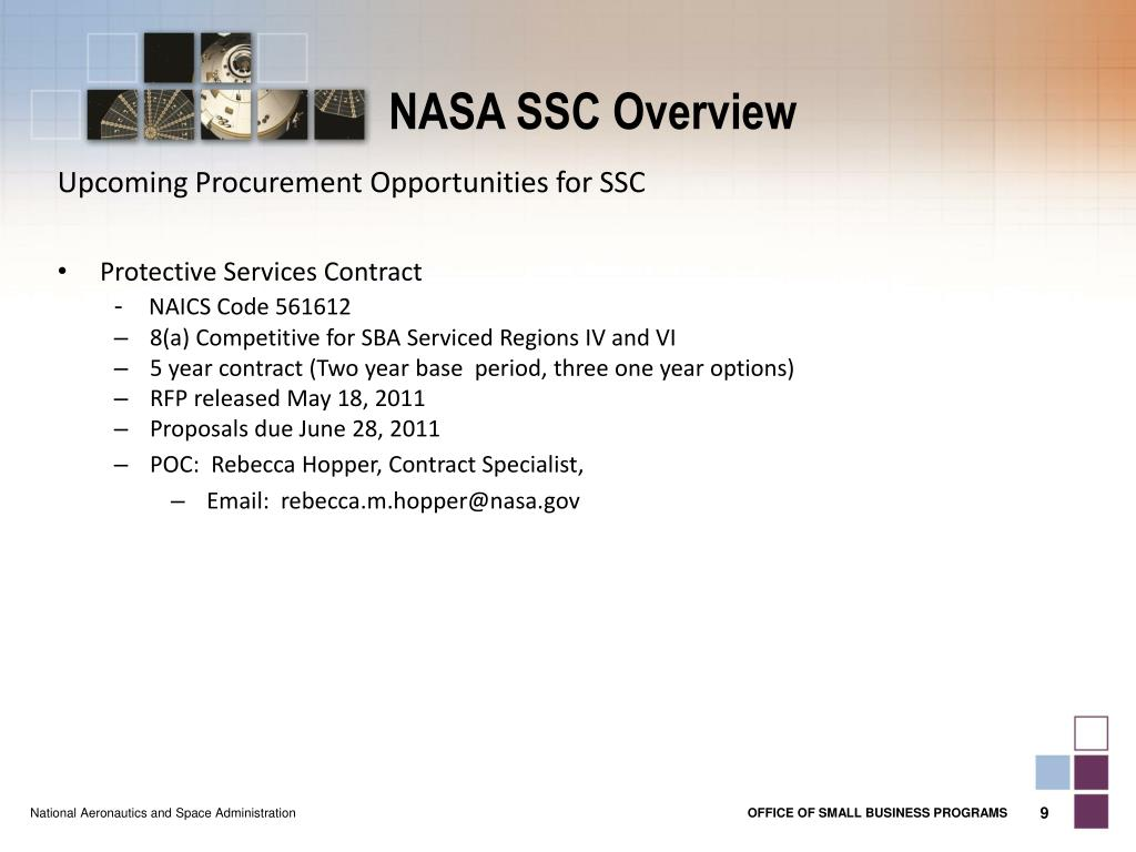 PPT - NASA SSC Overview PowerPoint Presentation - ID:1661631