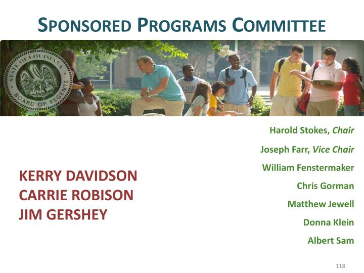 Sponsored Programs Committee