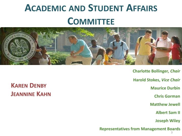 Academic and Student Affairs Committee