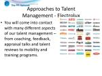 approaches to talent management electrolux