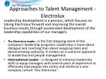 approaches to talent management electrolux1