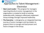approaches to talent management electrolux2