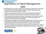 approaches to talent management gkn