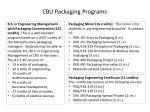 cbu packaging programs