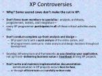 xp controversies