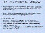 xp core practice 4 metaphor