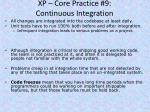xp core practice 9 continuous integration