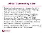 about community care