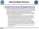 national media attention