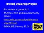 best buy scholarship program