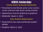 nchssa scholarships