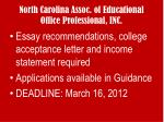north carolina assoc of educational office professional inc