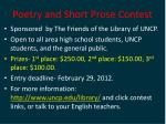 poetry and short prose contest1