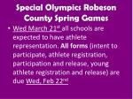 special olympics robeson county spring games