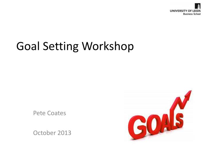 goal setting workshop n.