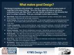 what makes good design