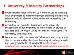 1 university industry partnerships
