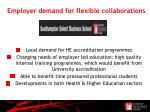 employer demand for flexible collaborations