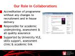 our role in collaborations