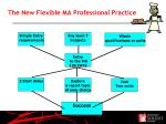 t he new flexible ma professional practice