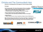 christie and the communitech hub