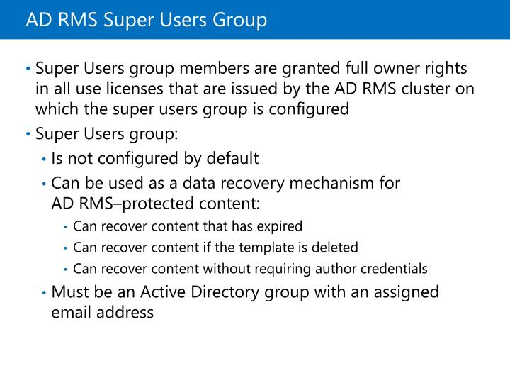 ADRMS Super Users Group