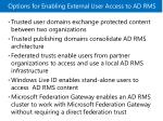 options for enabling external user access to ad rms