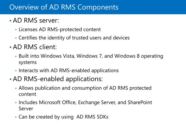 Overview of ADRMS Components