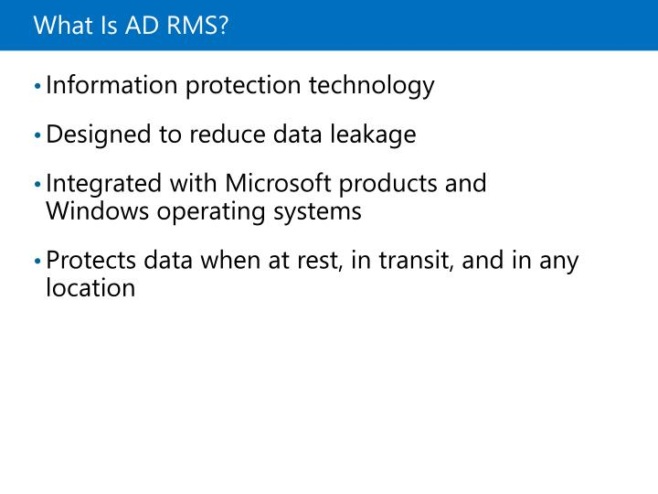 What Is ADRMS?