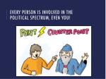 every person is involved in the political spectrum even you