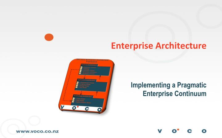 enterprise architecture n.