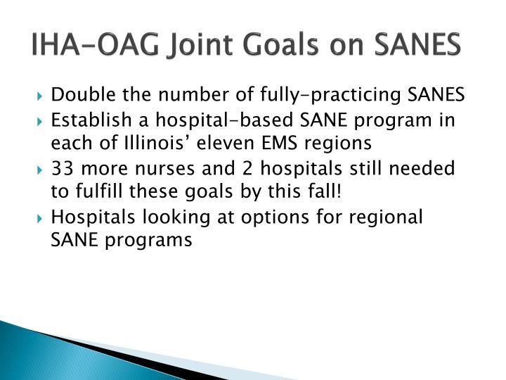 Iha oag joint goals on sanes
