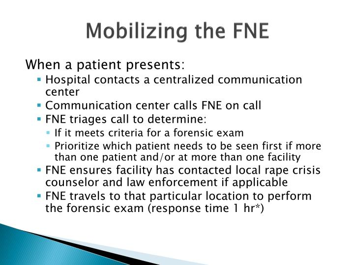 Mobilizing the FNE