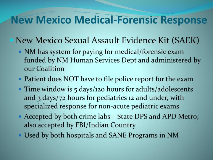 New Mexico Medical-Forensic Response