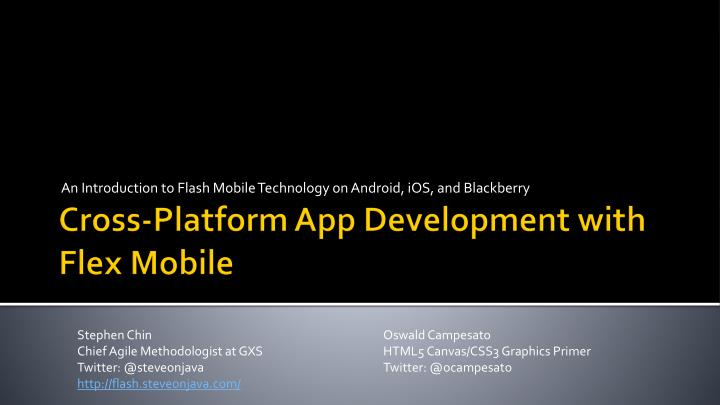 an introduction to flash mobile technology on android ios and blackberry n.