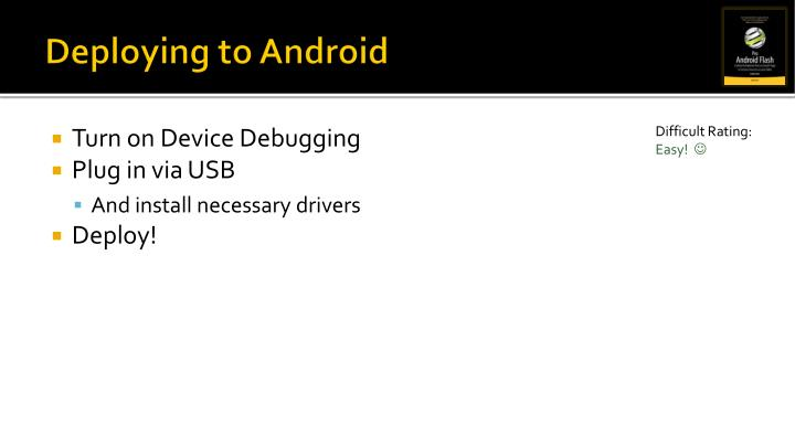 Deploying to Android
