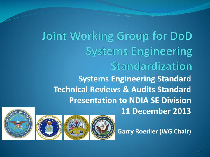 joint working group for dod systems engineering standardization n.