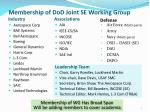 membership of dod joint se working group