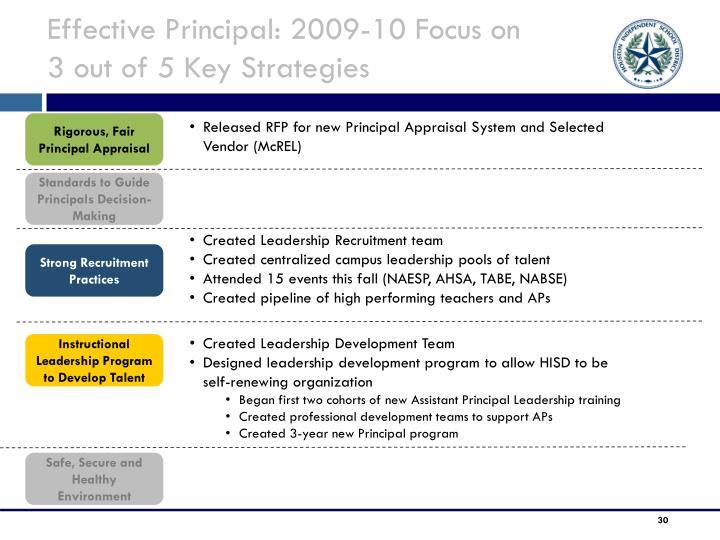 Effective Principal: 2009-10 Focus on