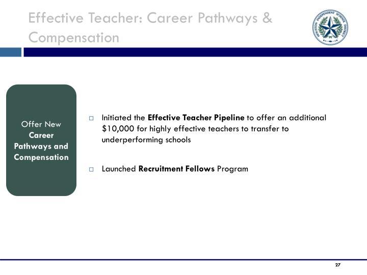 Effective Teacher: Career Pathways & Compensation