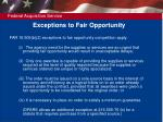 exceptions to fair opportunity