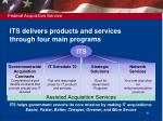 its delivers products and services through four main programs