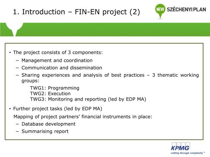 1. Introduction – FIN-EN project (2)