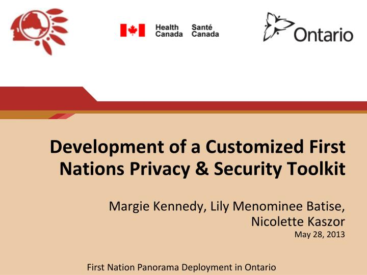 development of a customized first nations privacy security toolkit n.