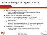 privacy challenges among first nations
