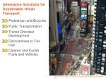 alternative solutions for sustainable urban transport