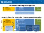 undaf without integrative approach