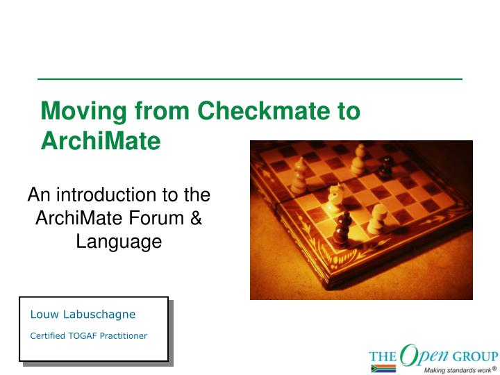 moving from checkmate to archimate n.