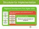 structure for implementation