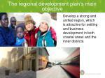 the regional development plan s main objective